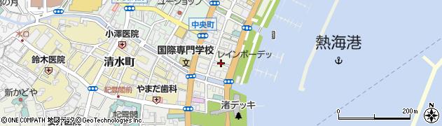 静岡県熱海市渚町周辺の地図