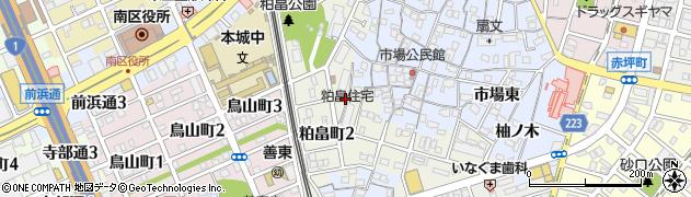 粕畠住宅周辺の地図