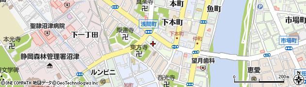 静岡県沼津市本(浅間町)周辺の地図