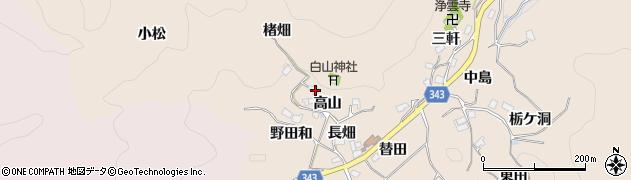 愛知県豊田市霧山町(楮畑)周辺の地図