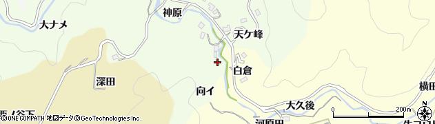 愛知県豊田市白倉町(向イ)周辺の地図