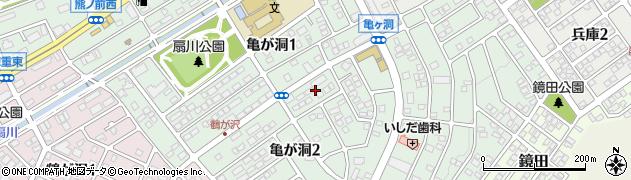 愛知県名古屋市緑区亀が洞周辺の地図