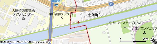 愛知県名古屋市南区豊田町周辺の地図