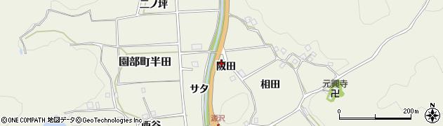 京都府南丹市園部町半田(阪田)周辺の地図
