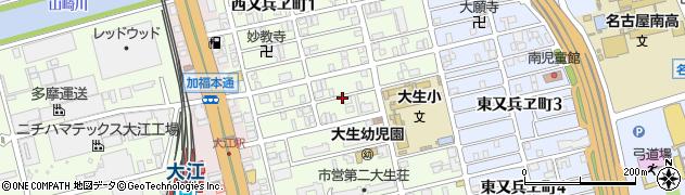 愛知県名古屋市南区西又兵ヱ町周辺の地図