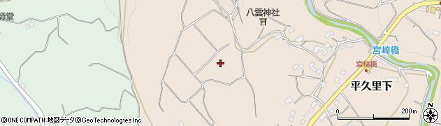 千葉県南房総市平久里下周辺の地図