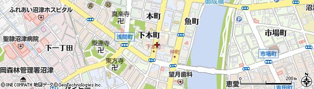 静岡県沼津市下本町周辺の地図