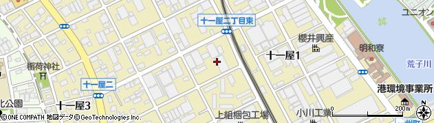 愛知県名古屋市港区十一屋周辺の地図