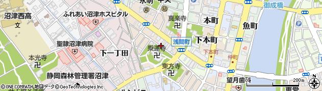 静岡県沼津市本(出口町)周辺の地図