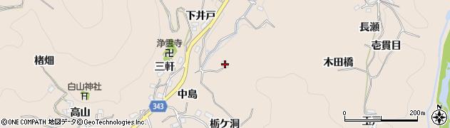 愛知県豊田市霧山町(深田)周辺の地図