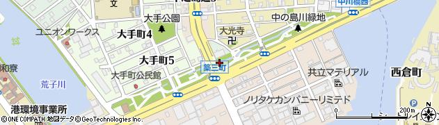愛知県名古屋市港区熱田前新田(中川西)周辺の地図