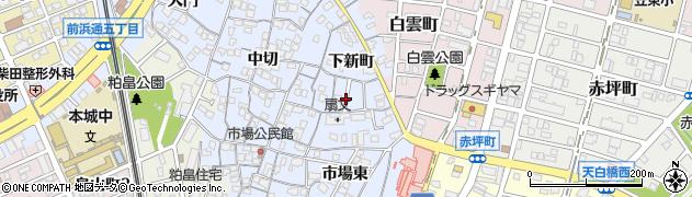 愛知県名古屋市南区笠寺町(下新町)周辺の地図
