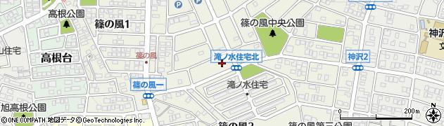 愛知県名古屋市緑区篠の風周辺の地図