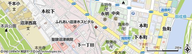 静岡県沼津市本(前田)周辺の地図