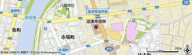 静岡県沼津市周辺の地図