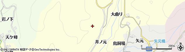愛知県豊田市国谷町(井ノ元)周辺の地図
