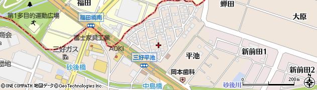 愛知県みよし市三好町(平池)周辺の地図
