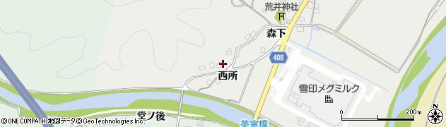 京都府南丹市八木町美里(西所)周辺の地図