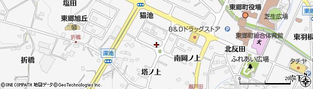 愛知県愛知郡東郷町春木猫池周辺の地図