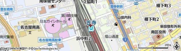 愛知県名古屋市南区周辺の地図