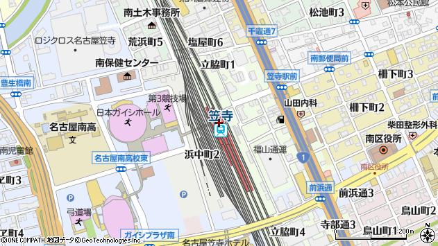 笠寺駅(愛知県名古屋市南区) 駅・路線図から地図を検索