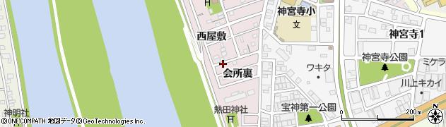 愛知県名古屋市港区宝神町周辺の地図
