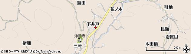 愛知県豊田市霧山町(下井戸)周辺の地図