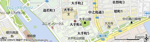 愛知県名古屋市港区大手町周辺の地図