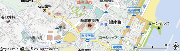 静岡県熱海市周辺の地図
