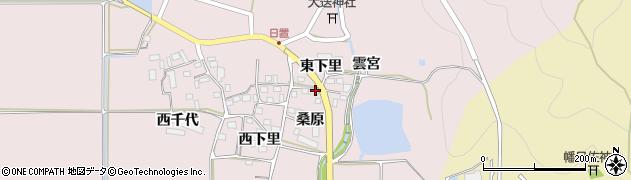 京都府南丹市八木町日置(桑原)周辺の地図