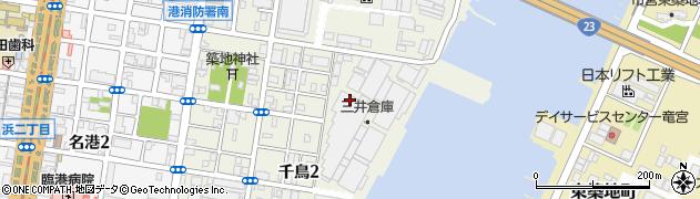 愛知県名古屋市港区千鳥周辺の地図