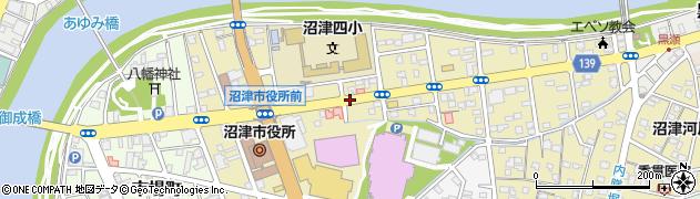 静岡県沼津市御幸町周辺の地図