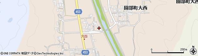 京都府南丹市園部町大西(カハノ上)周辺の地図