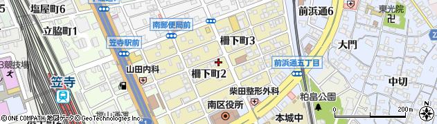 愛知県名古屋市南区柵下町周辺の地図