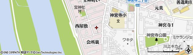 愛知県名古屋市港区宝神町(会所裏)周辺の地図