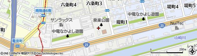 愛知県名古屋市南区泉楽通周辺の地図