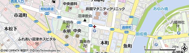 静岡県沼津市大門町周辺の地図