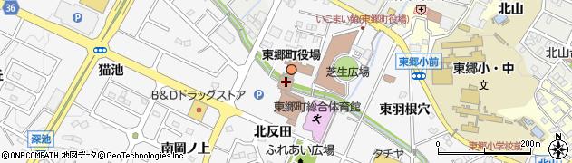 愛知県愛知郡東郷町周辺の地図