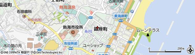 静岡県熱海市銀座町周辺の地図