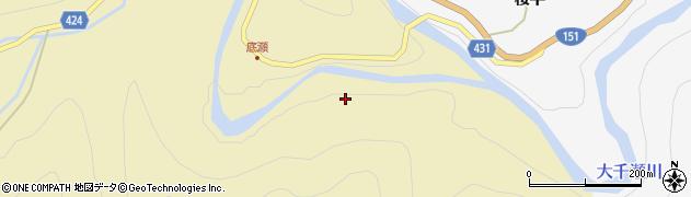 愛知県北設楽郡東栄町振草下粟代大平瀬周辺の地図