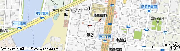愛知県名古屋市港区浜周辺の地図