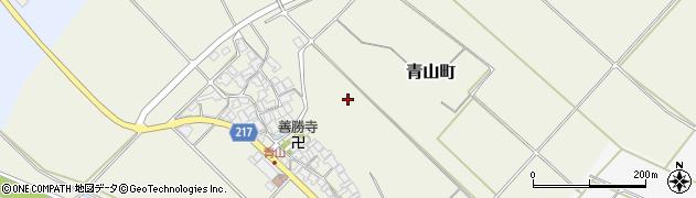 滋賀県東近江市青山町周辺の地図