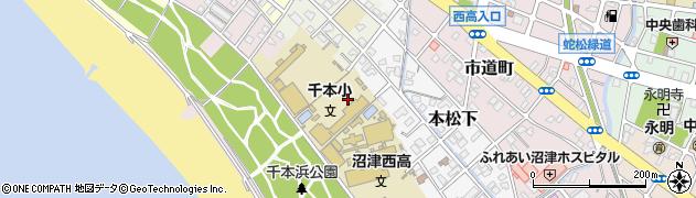 静岡県沼津市本周辺の地図