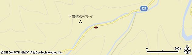 愛知県北設楽郡東栄町振草下粟代向畑周辺の地図