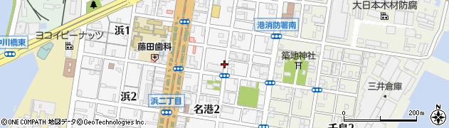 愛知県名古屋市港区名港周辺の地図