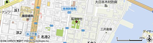 築地神社周辺の地図