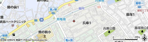 愛知県名古屋市緑区兵庫周辺の地図