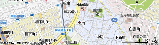 愛知県名古屋市南区笠寺町(大門)周辺の地図