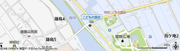 愛知県弥富市鳥ケ地周辺の地図