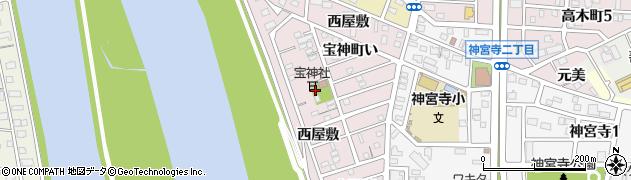 愛知県名古屋市港区宝神町(操出)周辺の地図
